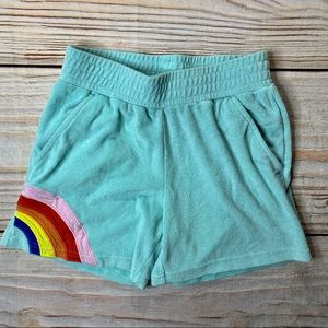 Hanna Andersson terry pull on shorts rainbow